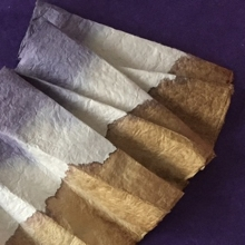Handmade paper and natural dyes