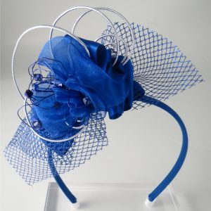 Arona Khan Blue fascinator V2 Tegen's customer_ak