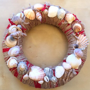 Seashells on a wreath