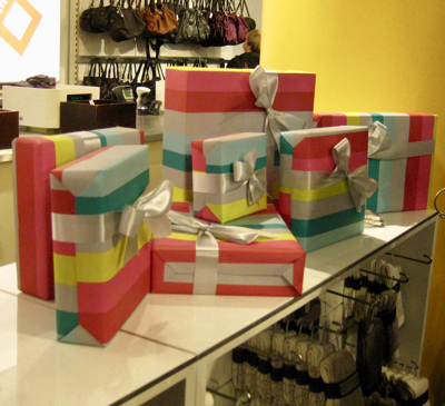 Gifts wrapped at GAP