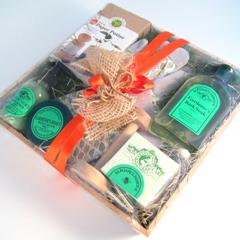 A gardener's gift basket