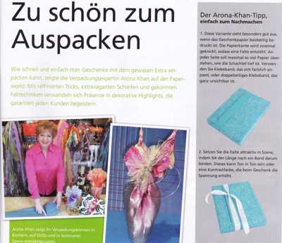 Article about Arona Khan in PBS Germany magazine