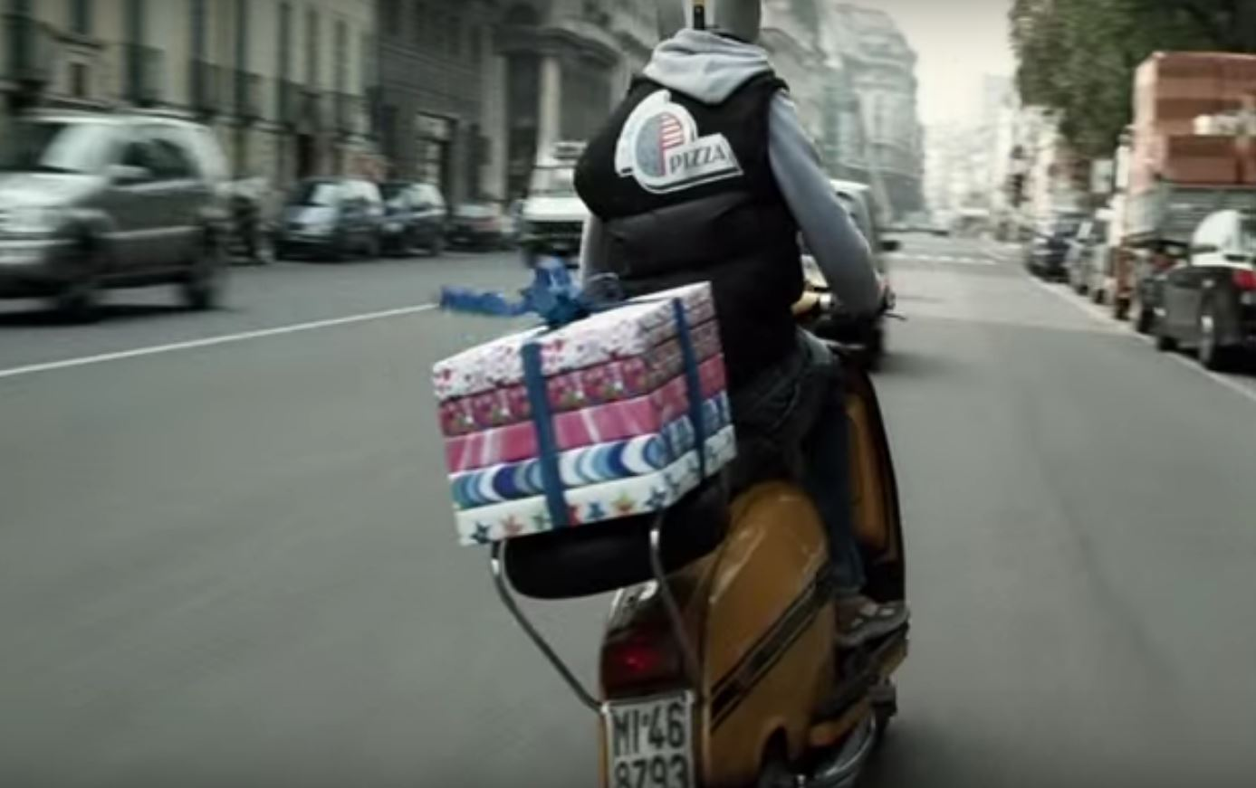 Gifts wrapped in a VISA commercial